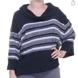 Free People Women's Striped Bell Sleeves Crop Top